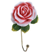 Wall Mounted Rose Hook dress Hook Hat Coat Hook Door Clothes Hanger Towel BL3