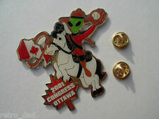 Fun Military Police CANADA White Horse ALIEN Baseball 2001 METAL PIN BADGE Pins