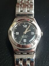 Ladies Vintage Stainless Steel Swatch Irony Quartz Bracelet Watch