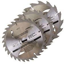3 LAME SEGA CIRCOLARE DIAMETRO 150MM FORO 20mm & 16mm & 12.75 mm arbusti Mitre