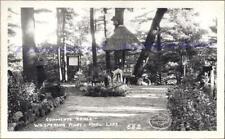 1930s Waupaca Wisconsin Marl Lake Whispering Pines Park Tabl Real Photo Postcard
