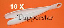 Tupperware Gadgets 10 Greiferle Zucker-Zange Weiss
