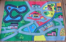 "KIDS RUG CARS TRUCK CHILDREN PLAY STREET MAP (54"" X 36"") #2"
