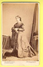CDV - Lady  wearing Crinoline Dress - The London School of Photography - London