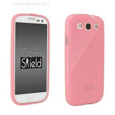 NEW FOR SAMSUNG GALAXY S III 3 BABY PINK GEM SHIELD GLITTER TPU SKIN COVER CASE