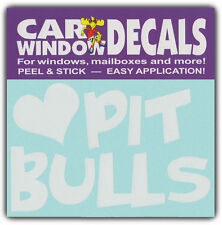 Car Window Decals: I Love Pit Bulls | Terrier Dogs | Stickers Cars Trucks Glass