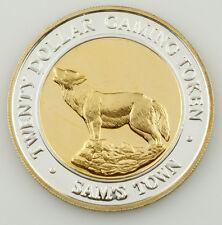 SAM'S TOWN, LAS VEGAS, $20 TWENTY DOLLAR GAMING TOKEN .999 FINE SILVER COIN