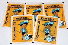 AMERICANA WM ARGENTINIEN 1978 Argentina 78, 5 x Tüte packet bustina (no Panini)