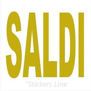 Adesivo SALDI vetrina negozio vetrine negozi adesivi saldi scritte sconti MOD#1