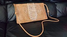 Corcodile Leather Handbag Made In Africa Very Rare
