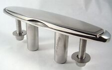 "10"" Heavy Duty Polished Stainless Pull Pop Up Boat Yacht Cleat Slimline 68301-ST"
