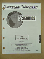 1993 OMC JOHNSON EVINRUDE ET 85 HP TTL OUTBOARD MOTOR SHOP PARTS CATALOG 435880