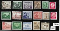 #5910    Mixed MH stamp group / Adolph Hitler / Third Reich Germany Postage