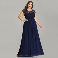 Plus Size Beaded Lace Bridesmaid Dresses Chiffon Evening Party Formal Gown 09993