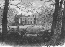 LONDON. Nonsuch Park 1888 old antique vintage print picture