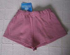 Vintage Girls VERY SHORT Shorts - Age 10-11-  Red & White  - Elastic Waist - New