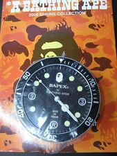 A Bathing APE 2009 Bape Round Small Desk / Wall Clock with Box and Magazine