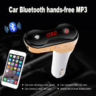 Bluetooth4.1 Car Wireless FM Transmitter Adapter USB Fast Charger AUX Hands-Free