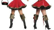 Leopard Boot Cuffs Leg Warmers Costume Fancy Dress Hen Night
