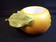 Partylite summer time ceramic tea light votive holder Pear fruit