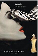 """Publicité Advertising 1998 Parfum """"Inspiration"""" par Charles Jourdan"""