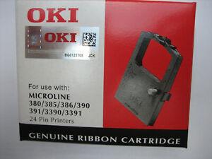 OKI ML Microline 390FB 320FB FLAT BED   Black Ribbon Farbband 09002310