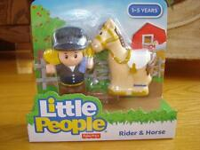 FISHER PRICE LITTLE PEOPLE RIDER & HORSE  NEW