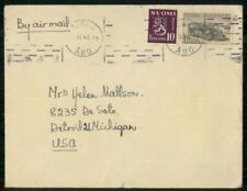 Mayfairstamps Finland Commercial 1948 Cover Turku To Detroit Mi Usa wwk40901