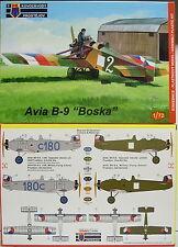 "Avia B-9 ""Boska""  Zweisitzer , KP, 1:72, Plastik , NEUHEIT"