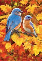 Custom Decor Fall Bluebirds - House Flag, Decorative Double Sided, 28 X 40