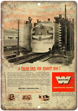 """Whiting Transportation Equipmet Vintage Ad 10"""" X 7"""" Reproduction Metal Sign Z45"""
