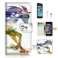 ( For iPhone 8 ) Wallet Case Cover P2973 Horse