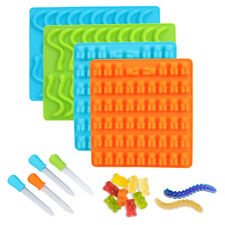 Silicone Gummy Bear/Earthworm Candy Making Mold Supplies Chocolate Ice Maker Usa
