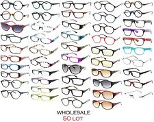 50 MIXED LOT WHOLESALE RESALE GLASSES READING GLASSES MIXED POWERS STYLES