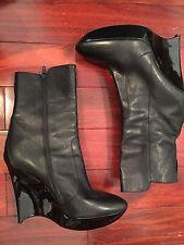 BALENCIAGA Ankle Platform Wedges Boots Sz 9 Black