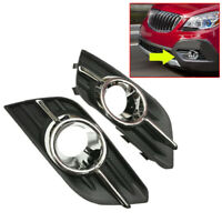 2x Front Bumper Fog Light Lamp Housing Cover Fit For Buick Encore 2013-2015 New