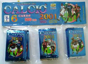 Schede Calcio 2001 Cards I Ed. Box 30 Bustine Mundicromo