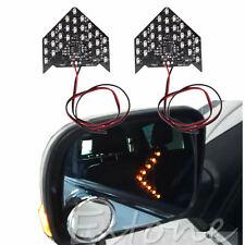 2Pcs 33 SMD LED Indicator Light Arrow Panels For Car Side Mirror Turn Signal New