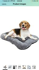 New listing Dog Crate Bed, Ultra Soft Dog Bed Dog Crate Mattress Fluffy Long Plush