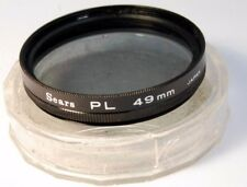 Used Sears 49mm PL Polar Polarizer  Filter - free shipping