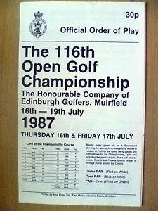 116th Open Golf Championship- EDINBURGH GOLFERS,16-19 July 1987(Official Order..