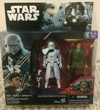 Star Wars (Rogue One packaging) Snowtrooper Officer and Poe Dameron.  NIB