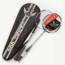 Professional Pair Of Badminton Racket 100% Carbon Fiber W4 Offensive Raqueta New