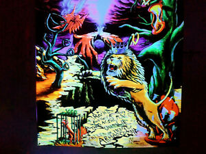 Trippy UV Blacklight Tapestry Psychedelic Surreal Hippie Glow Art - The Wrath