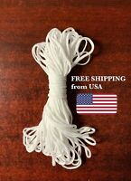 "3mm (1/8"")  Elastic Band Cord Ear hanging Sewing Crafts DIY Material 50ft+"
