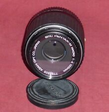 SMC PENTAX 100mm 1:4 Macro Lens K Mount With Caps Pentax-M