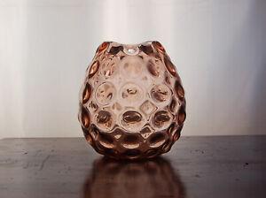 Vaso in Vetro di Murano con bolle lenticolari. Firmato Salviati
