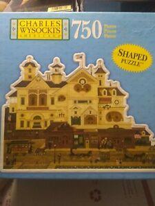 MB CHARLES WYSOCKI'S AMERICANA 750 Piece Shaped Puzzle, 49366 free shipping