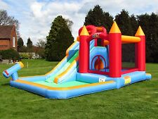 BeBop Wild Splash Bouncy Castle Water Slide Combo for Kids Children Garden