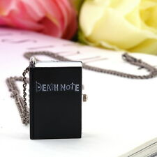 Pocket Watch Pendant Necklace Gift Gh Chic Vintage Unique Death Note Book Quartz
